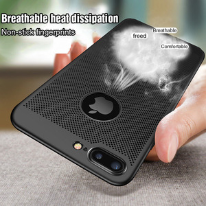 Image 5 - Ultra Slim Phone Case For iPhone 6 6s 7 8 Plus Hollow Heat Dissipation Cases Hard PC For iPhone 5 5S SE Back Cover Coque XS MAX