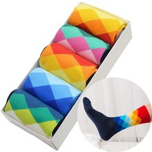 LETSBUY 12 Pair / Funny For Men Colorful Cotton Wedding Socks for Fruit Multi Casual