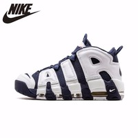 Nike Air более ритмично Новое поступление оригинальный Для мужчин дышащие Баскетбольная обувь напольная, удобная спортивная обувь #414962 104