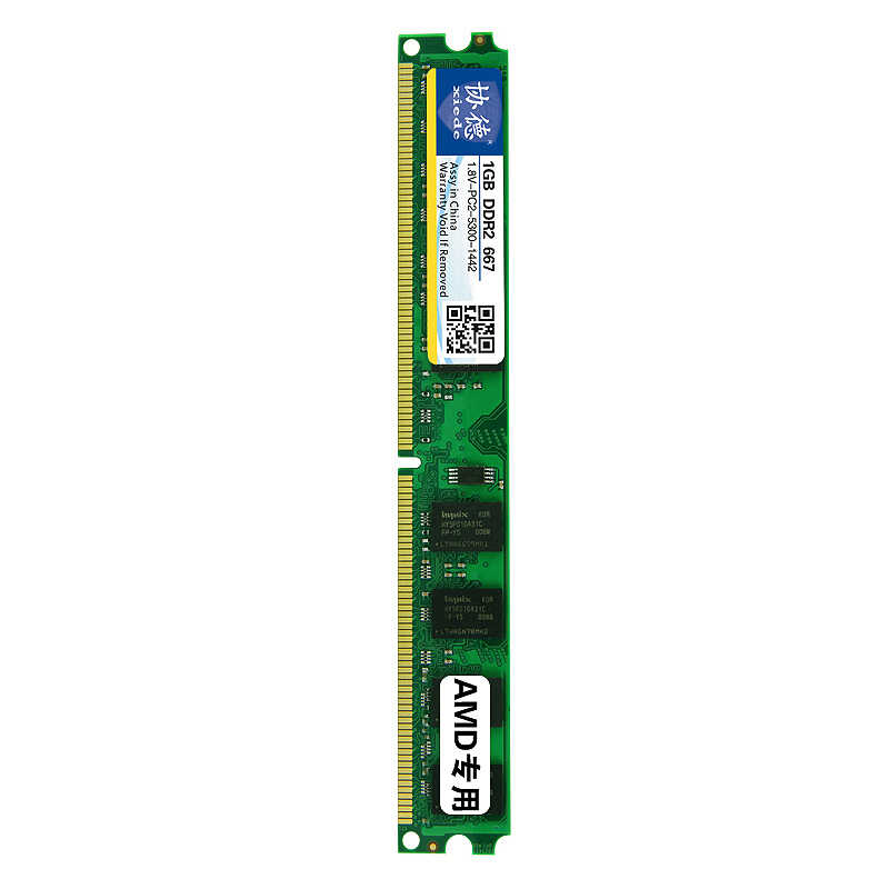 Xiede كمبيوتر مكتبي ذاكرة عشوائية Ram وحدة Ddr2 667 Pc2-5300 240Pin Dimm 667Mhz