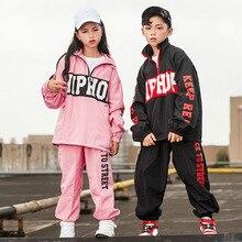 Etapa de la competencia coreano estilo Hiphop traje de baile Hip Hop ropa  de los niños Pop calle desgaste de la danza traje de c. 85b2d82e835