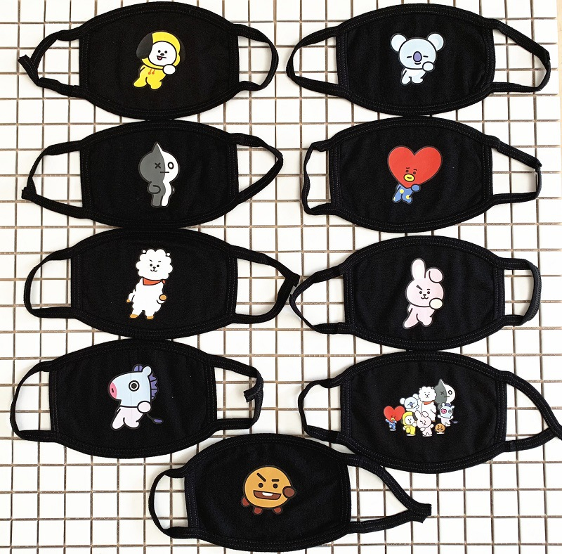 30 Pcs/lot Wannaone Twice Seventeen Mask Kpop Blackpin Exo Bt21 Face Cotton Mask Dust Cover Party Supplies Volume Large Action & Toy Figures