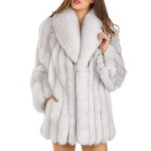 S-4XL Mink Coats Women 2018 Winter New Fashion FAUX Fur Coat