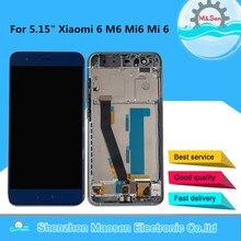 """Getest M & Sen Voor 5.15 """"Xiao Mi 6 Mi 6 Mi 6 M6 Mi 6 Met Vingerafdruk Lcd scherm   Touch Panel Digitizer Met Frame Assembly"""