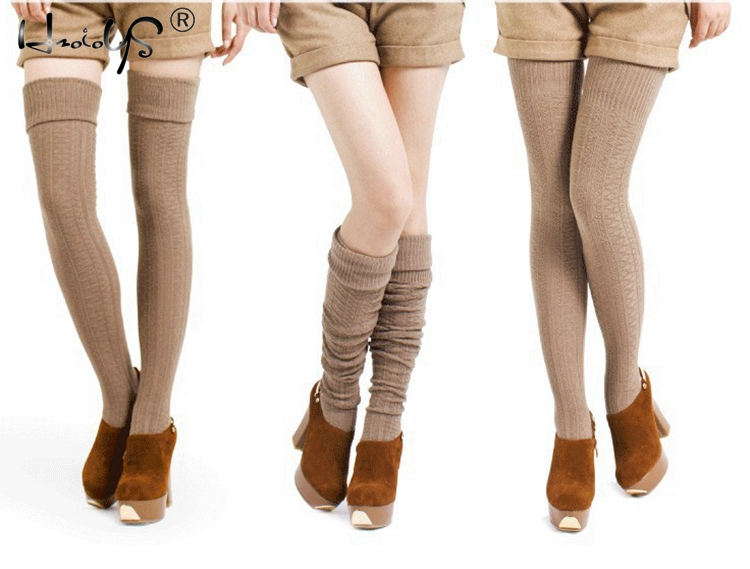 Women Socks Stockings Warm Thigh High Cotton Stockings Fashion Thigh High Over The Knee Socks For Female Solid Color Long Sock