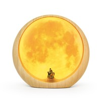 Originality Moon LED Night Light Romantic Table Lamp USB Charged Bedside Lamp Valentine's Day Anniversary Moon Lamp Gift Hot