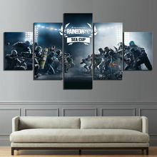Home Decor Poster HD Pictures Prints Canvas 5 Piece Tom Clancys Rainbow Six Siege Video Game Living Room Decorative Painting