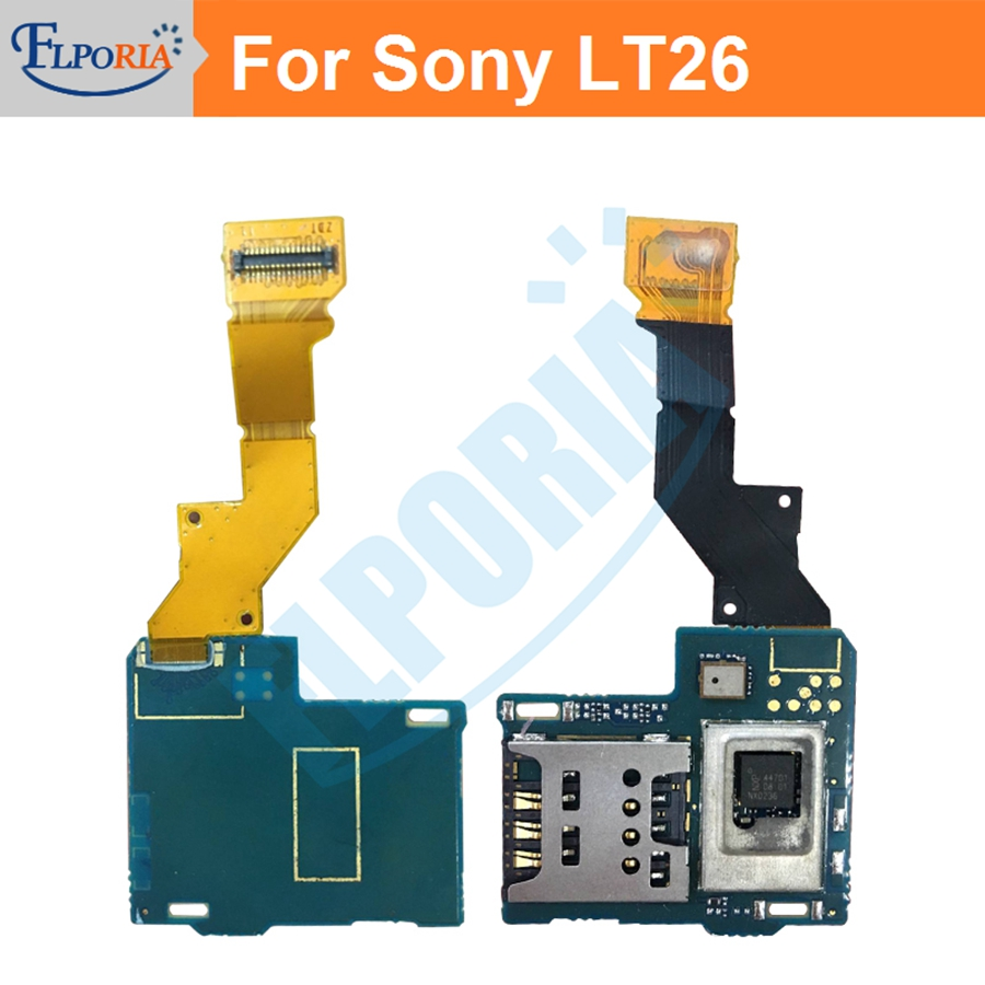 New Sim Card Slot Flex Cable For Sony Xperia Acros S LT26i LT26 sim card  reader connector slot tray holder Flex cable Ribbon