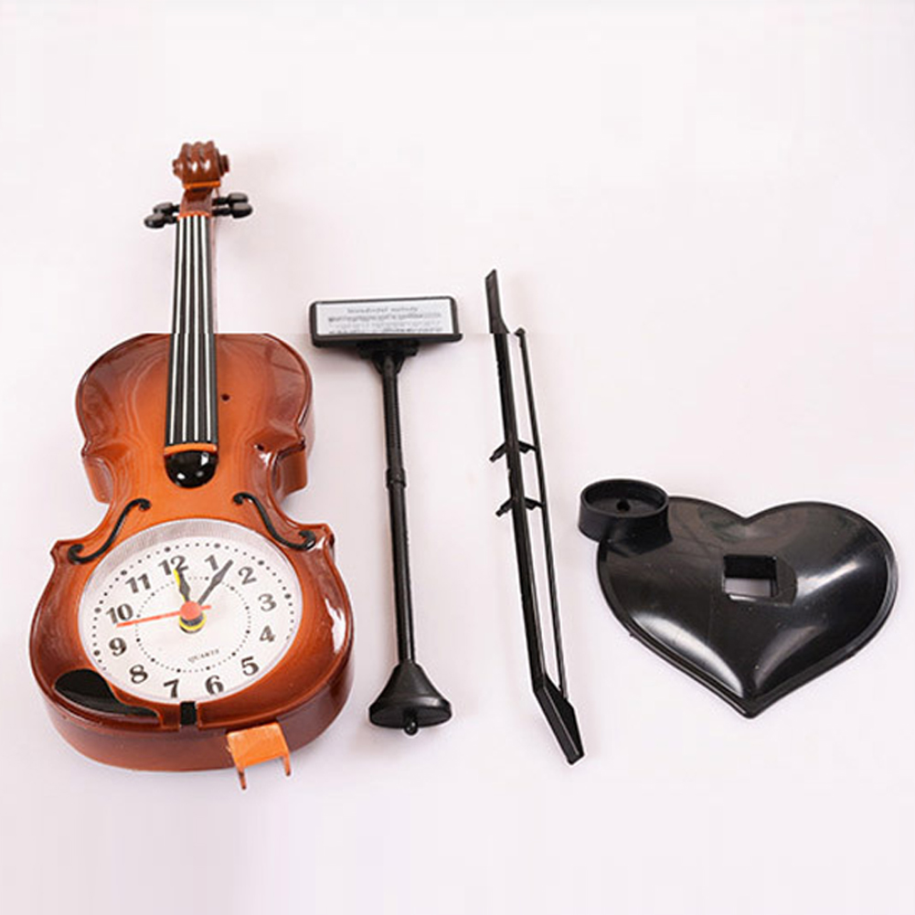 Back To Search Resultshome & Garden Trustful 2018 New 2 Colors Creative Instrument Table Clock Student Violin Gift Home Decor Fiddle Quartz Alarm Clock Desk Plastic Craft Home Decor