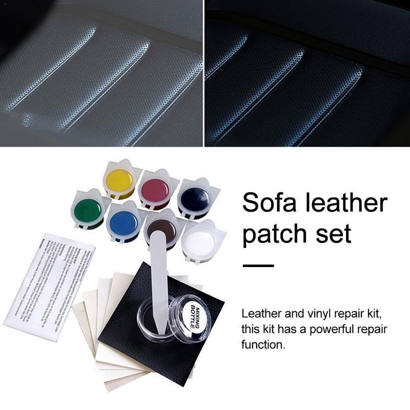 1Set Practical Upholstery DIY Auto Car Seat Sofa Coats Holes Scratch Cracks Rips No Heat Vinyl Repair Kit Leather Repair Tool