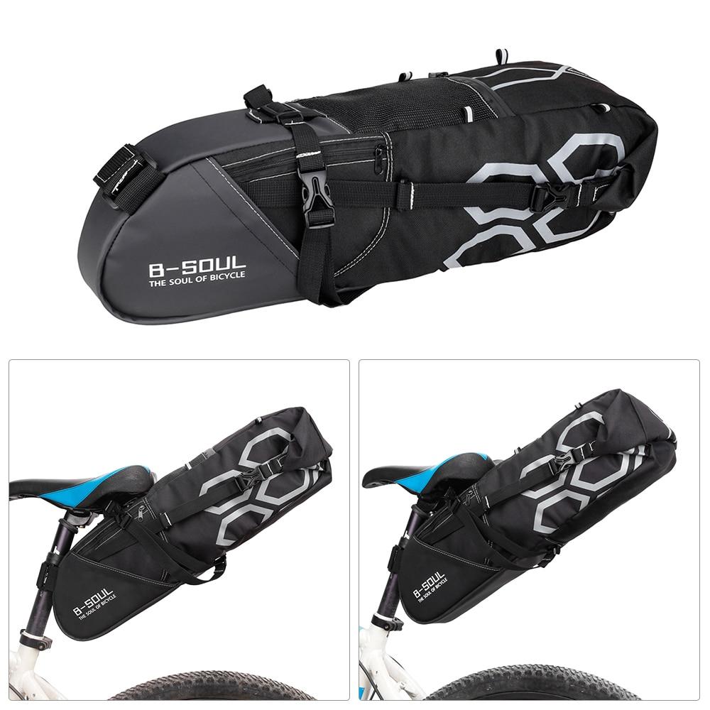 10L Bike Bag Bike Rear Seat Bag Bicycle Tool Storage Pouch Cycling Saddle Tail Packs Bike Storage Bag