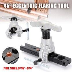 45 度偏心コーンフレアツールセット冷凍銅管 3/16 インチ 3/4 インチコーン型空気状態修復ツール|工具セット|ツール -