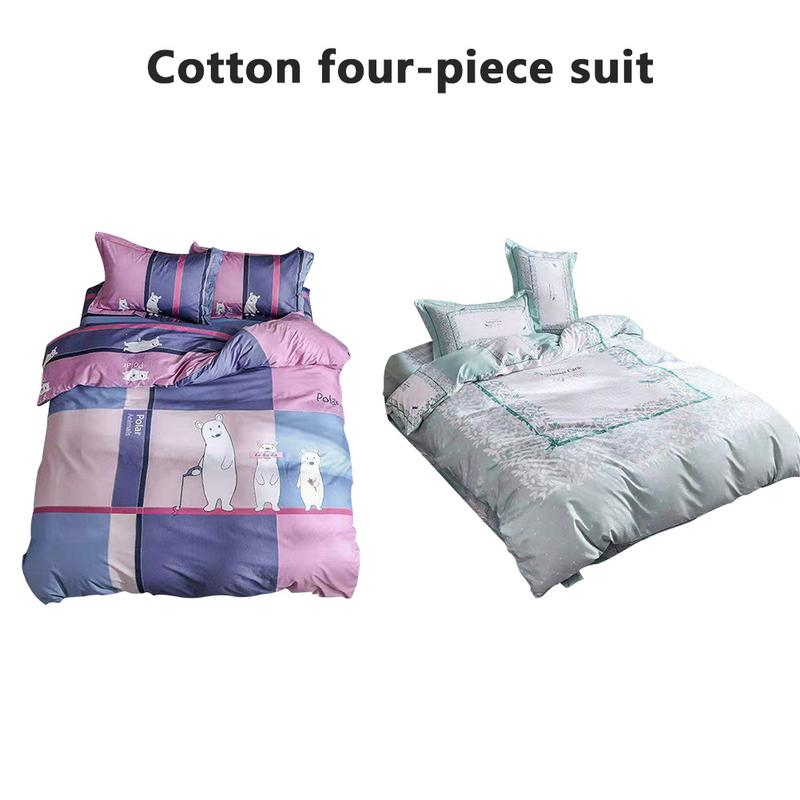 Cotton Comfortable Soft Bedding Set Of Four Environmentally Friendly And Durable Sweat-absorbent Breathable Household BeddingCotton Comfortable Soft Bedding Set Of Four Environmentally Friendly And Durable Sweat-absorbent Breathable Household Bedding