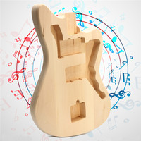 Unfinished Basswood Electric Guitar Body DIY Music Instrument Guitar Body Replacement Parts For 6 Strings Guitars Accessories