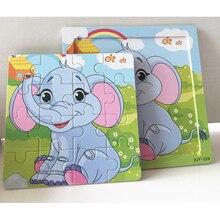 DDWE 16 pièces Puzzle 3D en bois jouets bébé enfants dessin animé animaux Puzzles enfant jouets éducatifs pour enfants cadeaux apprendre des jeux