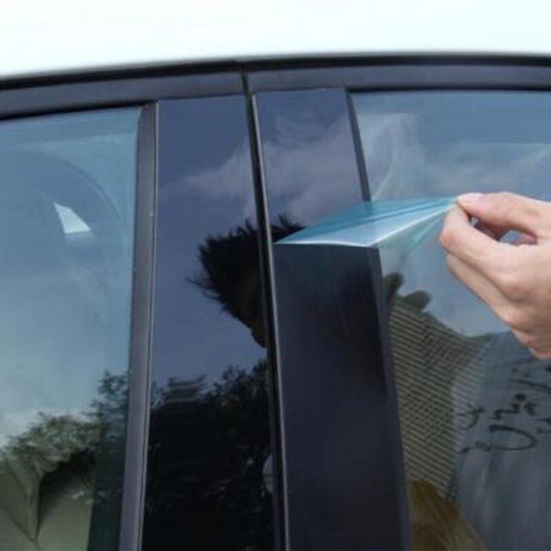Image 3 - 6pcs Car Window Pillar Trim Decoration Cover Sticker Black Plastic High Quality Auto Window Pillar Trim For Honda CR V CRV 17 18-in Chromium Styling from Automobiles & Motorcycles