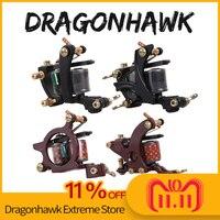 Dragonhawk Professional Tattoo Machine Fine Lining Shading Tattoo Gun Coloring Lining 10 Wraps Tattoo Machine Tattoo Supplies