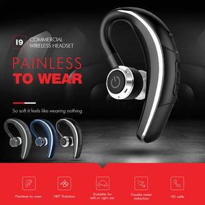 Havit I9 Bluetooth 4.2 Mini crochet d'oreille sans fil Conduction osseuse écouteur affaires simple face oreille monté casque de conduite