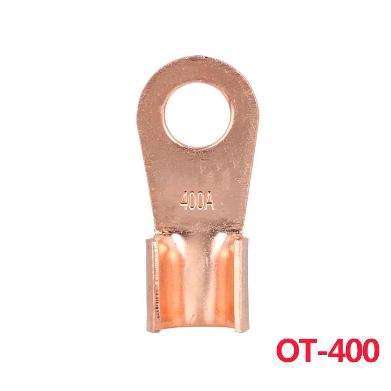 50 PCS OT 100A Open End Copper Circular Splice Crimp