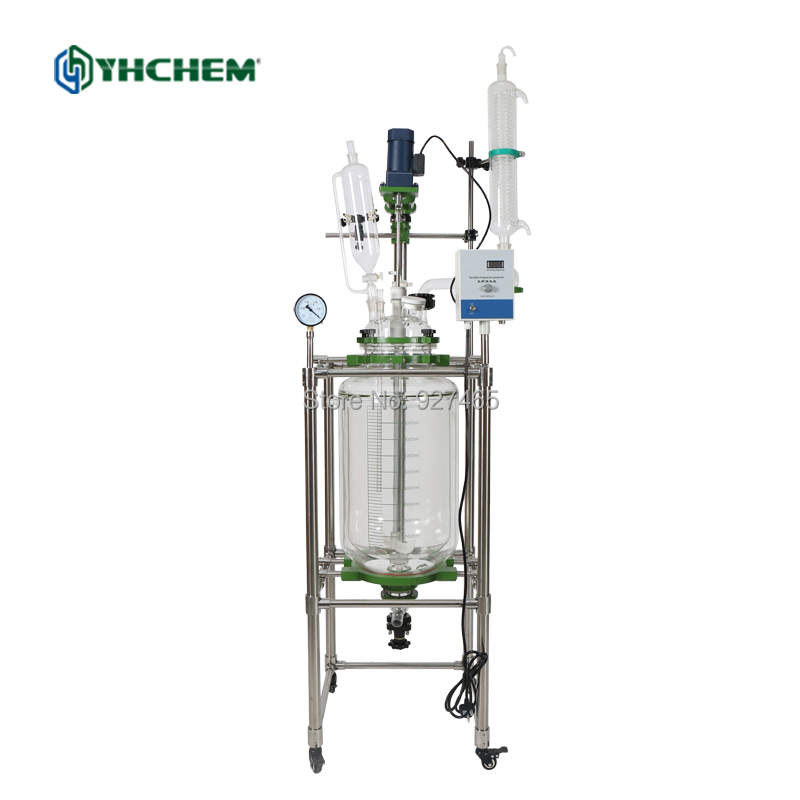 YHChem Fast Delivery Time Customizable 10L Jacketed Glass Ractor for Sale,Double Glass Reactor VesselYHChem Fast Delivery Time Customizable 10L Jacketed Glass Ractor for Sale,Double Glass Reactor Vessel