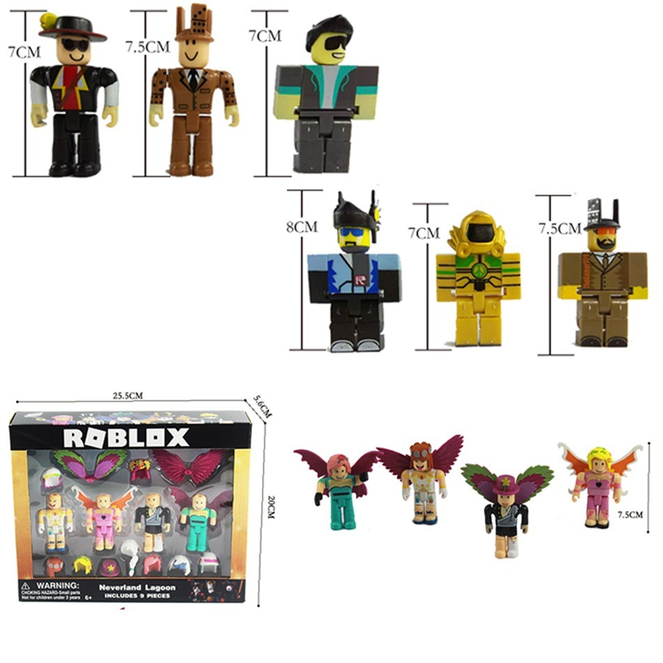 US $6 28 40% OFF New 7set 7 5cm Cartoon Pvc Roblox Figma Oyuncak Action  Figure Toys with Weapons Kids Party Gift Boys Roblox Game Character Toys-in