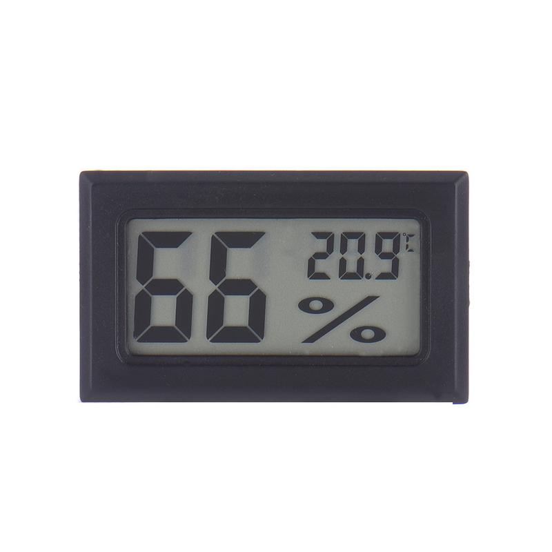 Mini Black Digital LCD Temperature Humidity Indoor Room Humidity Meter Thermometer Hygrometer Temperature Sensor Humidity-in Temperature Gauges from Home & Garden