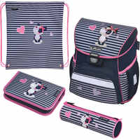 School Bags HERLITZ 10992549 schoolbag backpack orthopedic bag for boy and girl animals flowers