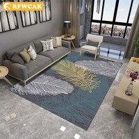 RFWCAK Modern Feather Area Rugs Parlor Mat Rugs Anti slip Large Rug Carpet For Living Room Bedroom Carpet Children Room Carpets