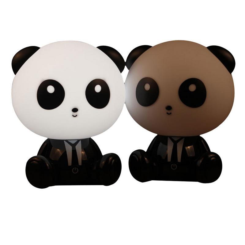 LED Night Light Children Cartoon Panda Shaped Eyes Protection Touch Control Table Lamp LightingLED Night Light Children Cartoon Panda Shaped Eyes Protection Touch Control Table Lamp Lighting