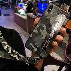 ★  Камуфляж Чехол для телефона Huawei P20 Pro P10 Plus P20 Lite наручный ремешок жесткий чехол для ПК H ①