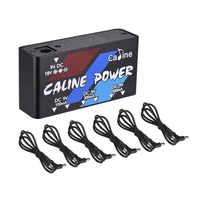 Caline CP-02 複数の出力電源 18V 1A 18 ワット 6 チャンネル出力アダプタと 6 個ケーブルギターペダル電源
