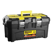Ящик для инструмента STAYER 38016-22 (Ручка для переноса, изменение размеров отделений, крышка с органайзером, возможность использовать навесной замок)