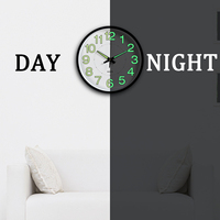 12 Inch Luminous Silent Bedroom Wall   Clocks   For Living Room Simple Design Quartz Wall Hanging   Clock   Without Battery Home Decor