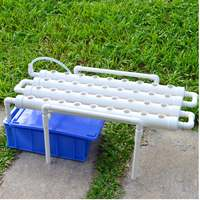 220V Hydroponic Grow Kit Plastic 36 Sites 4 Pipes 1 Layer Garden Grow Planting Box Vegetables Tools Hydroponic Rack Holder White