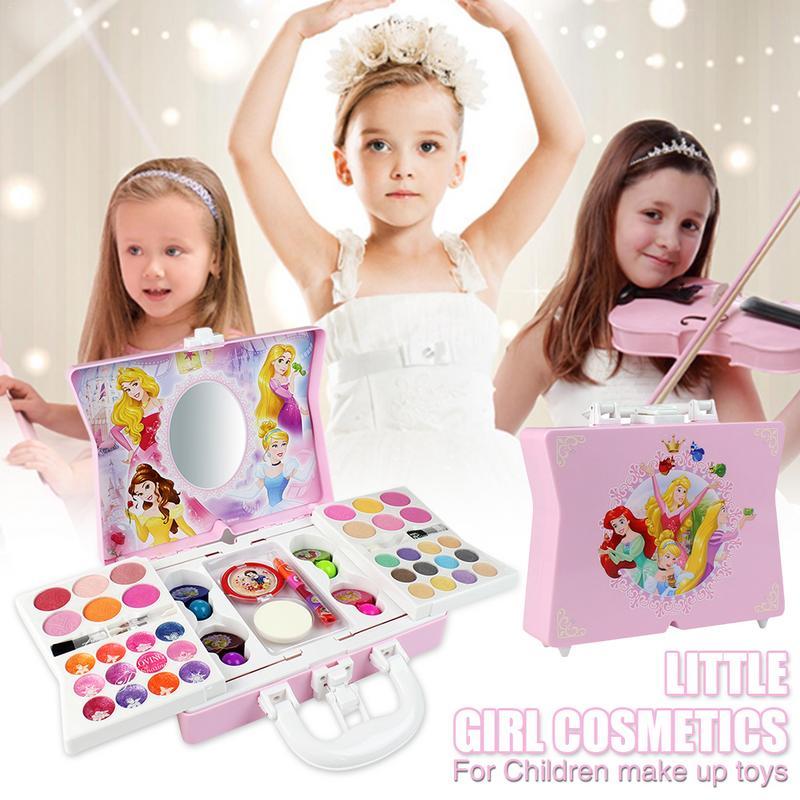 53 pièces kit de maquillage cosmétique pour Disney Style princesse pour fille pratiquant la compétence de maquillage ornements de jouets