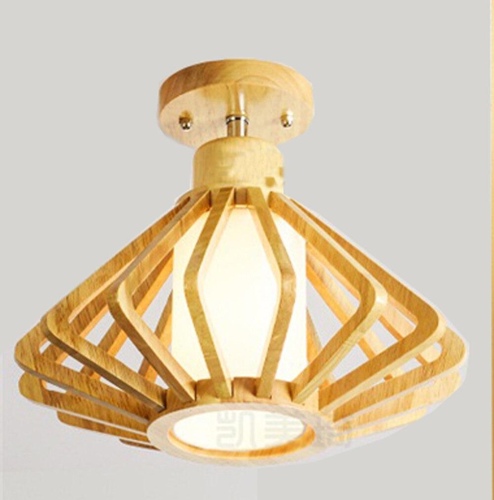 Moderna iluminação de teto sala de estar para o Restaurante Café Bar De Jantar de madeira moderno da lâmpada do teto LEVOU interior luz dispositivo elétrico|Luzes de teto| |  - title=