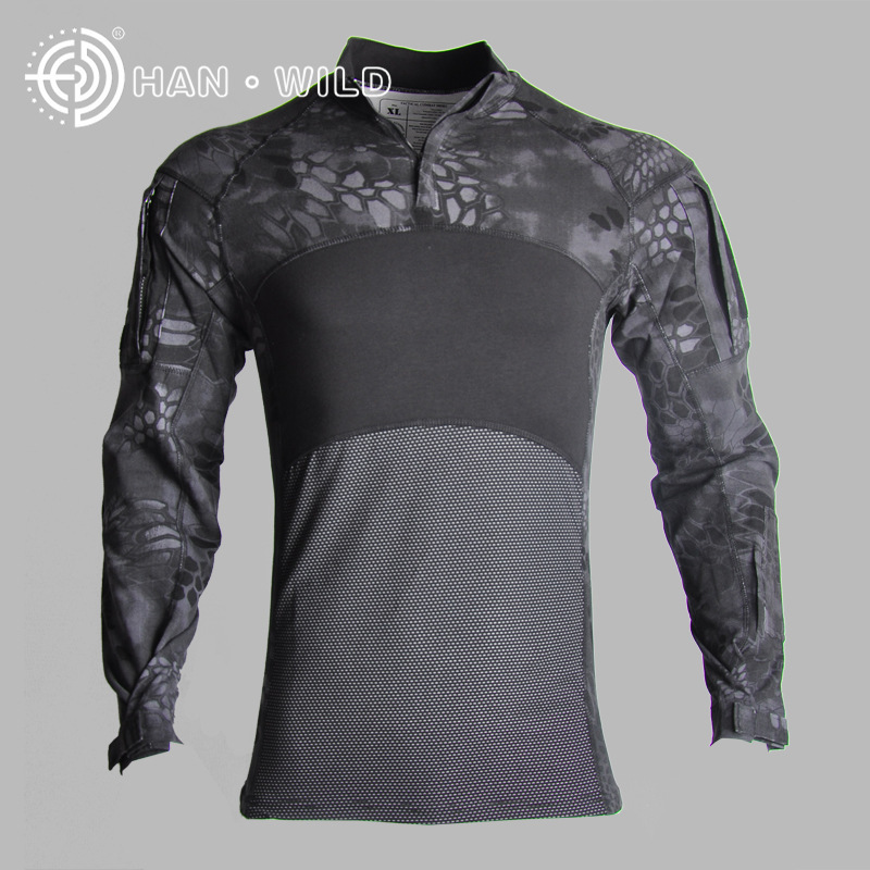 New Outdoor Camouflage tactical Hot t shirt long mens sports suits Cotton 2019 Climb 100% breathable ACU CP tactical jackets - 3