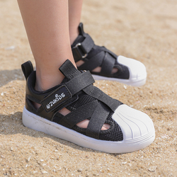 Sandal Children's Shoes For Spring Summer Kid's Casual Sneakers Girls Single Shell Toe Breathable Boys' Fashion Flats Footwear