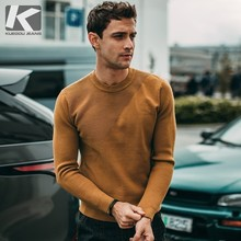 Autumn Men Sweater Solid Green Black Gray Yellow Pullovers For Man Fashion Slim Fit Clothes 2018 Male Wear Knitting Tops 81109