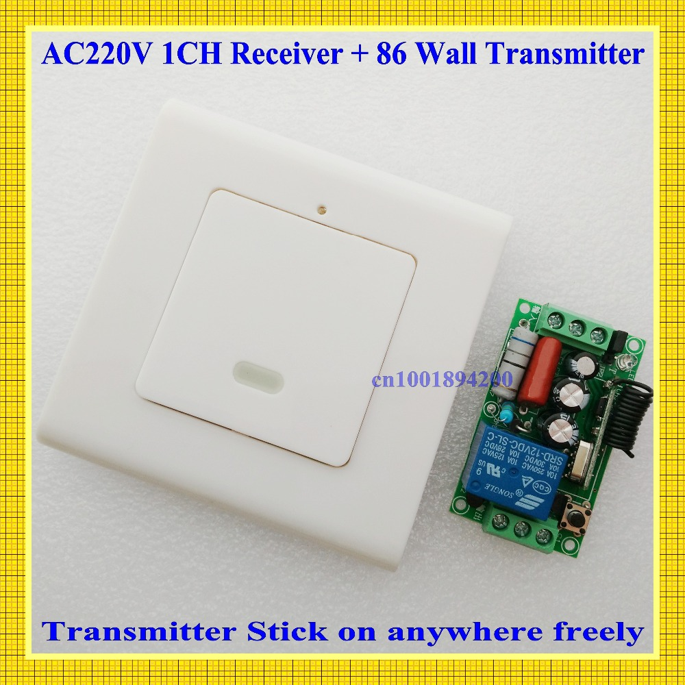 AC220V Light Lamp LED Remote Control ON OFF System 86 Wall Pannel Remote Control Transmitter without Wiring Learning Code 315mhzAC220V Light Lamp LED Remote Control ON OFF System 86 Wall Pannel Remote Control Transmitter without Wiring Learning Code 315mhz