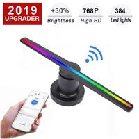 HD Projection 3D Hologram Advertising Projector 1800lm Phone WiFi Control Home Theatre System