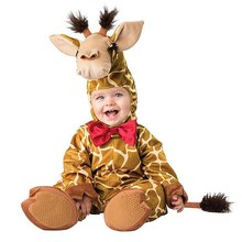 Infant Toddlers Baby Rompers Boys Girls Giraffe Costume Halloween Party Cosplay Costumes for Christmas Purim Holiday Jumpsuit