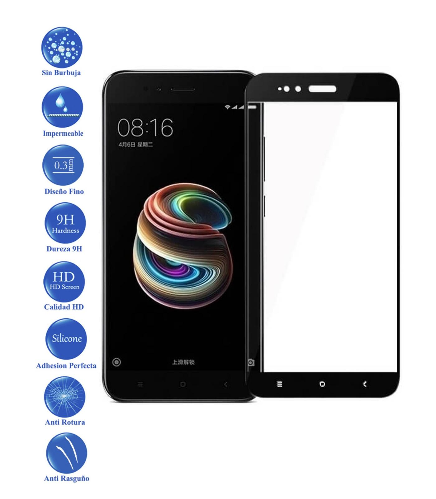 Full Toughened Glass LCD Cover Screen Protector For Xiaomi MI A1 And 5X Black