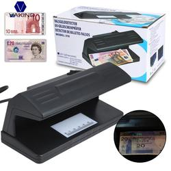 Counterfeit Money Detector Tool Fake Banknotes Bill Ultraviolet UV Tester Machine Forged Currency Fake Polymer Bank Note Checker