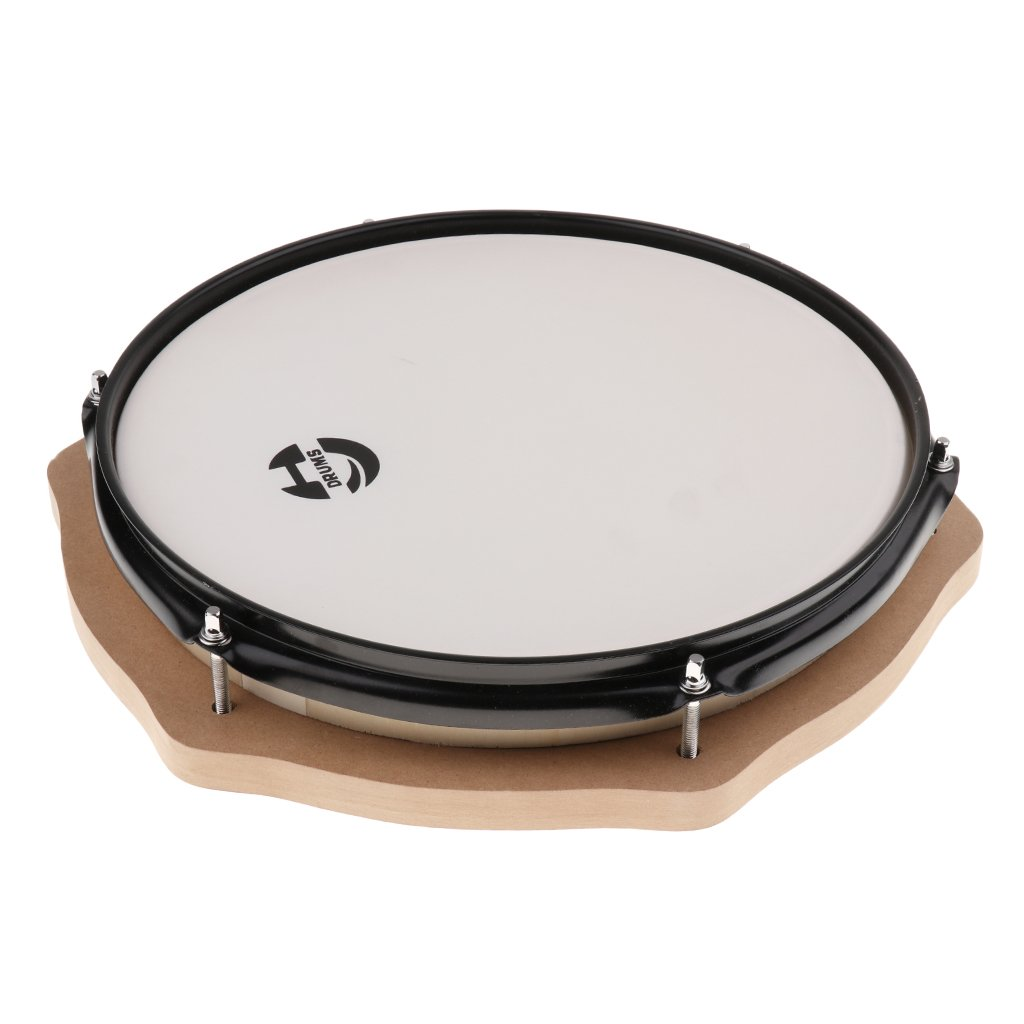 12 Inch Mute Drum Percussion Musical Instrument Practice Tool Early Learning Educational Toys for Children Toddler Kids