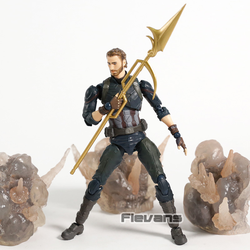 Avengers Infinity War Captain America & Tamashi Effect Explosion PVC Action Figure Collectible Model Toy guerre moderne lego