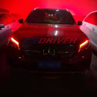 Icedriver for Mercedes Benz GLC class DRL LED boards 2016 2019 daytime running lights Red Blue Green Purple DRL LED Devil Eyes