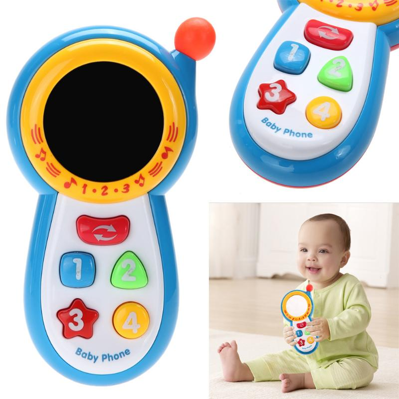 Early Education Toys Baby Kids Learning Study Musical Sound Mobile Phone Toy Random Ship Crying Artifact with Button Music Voice image