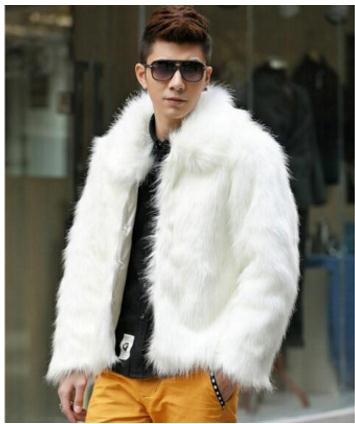 S/6Xl Mens Casual Imitation Fur Jackts White/Black/Brown Faux Fur Jackets Winter Autumn Large Size Male Fake Fur Coats