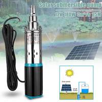 New Solar Water Pump 12/24V 180W 3000L/h 25m Deep Well Pump DC Screw Submersible Pump Irrigation for Garden Home Agricultural